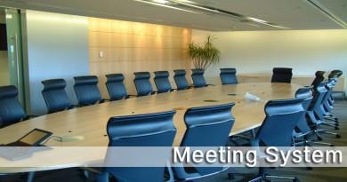 ระบบห้องประชุม (Meeting System)